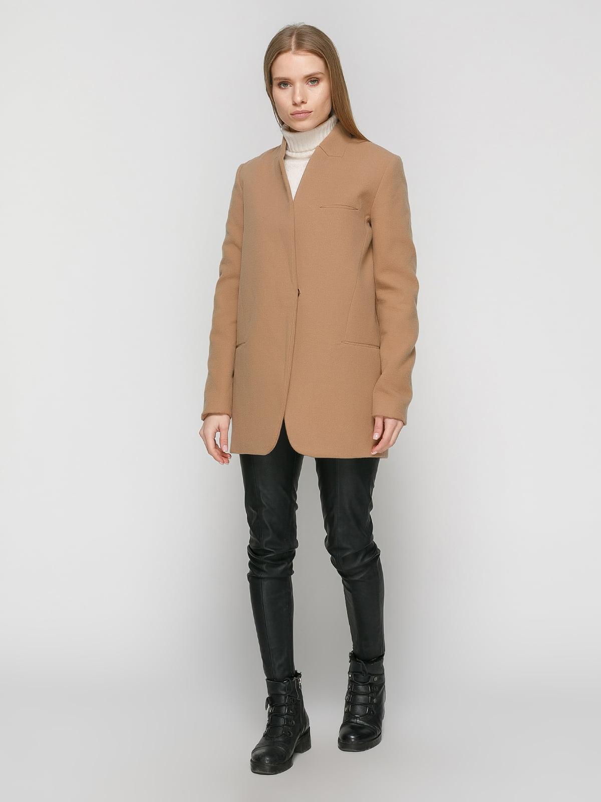 Пальто коричневое | 4875999 | фото 2