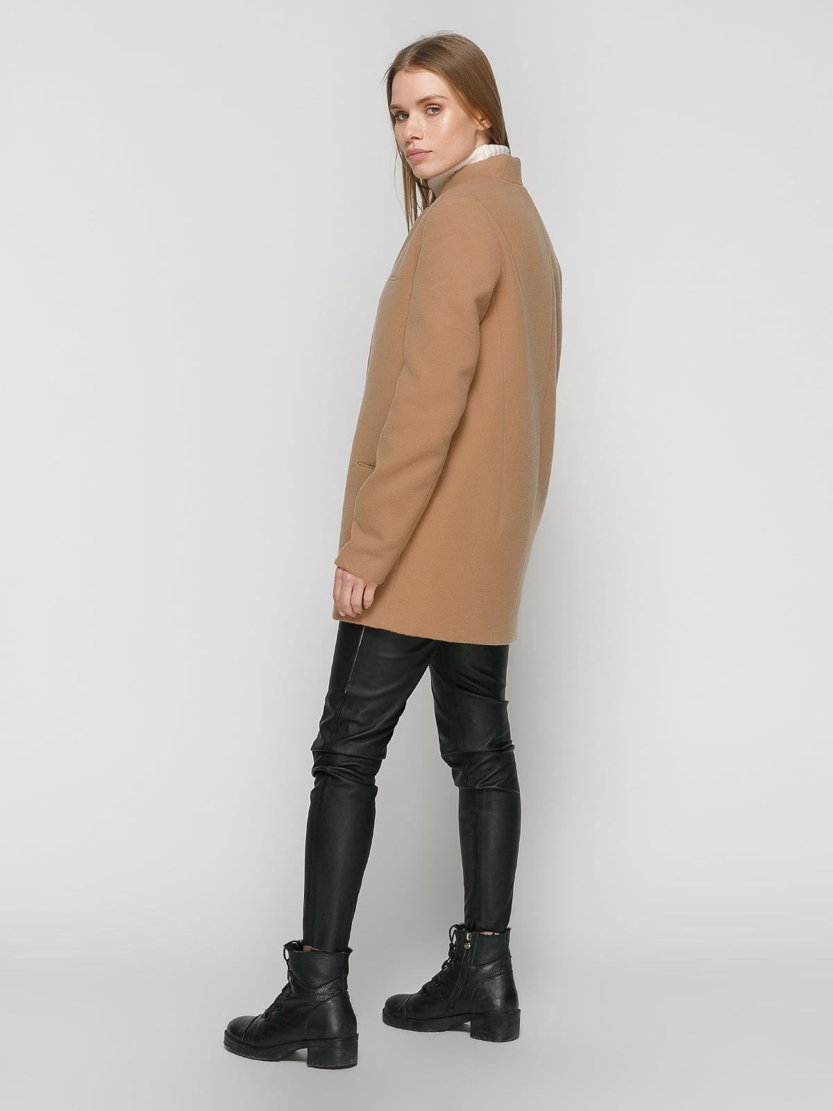 Пальто коричневое | 4875999 | фото 3