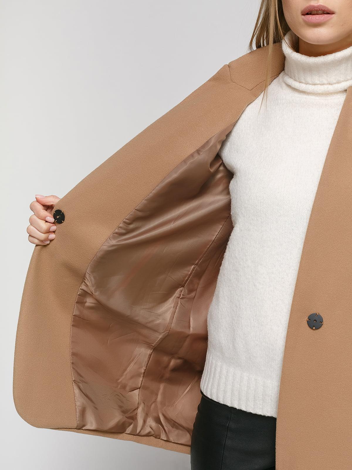 Пальто коричневое | 4875999 | фото 4