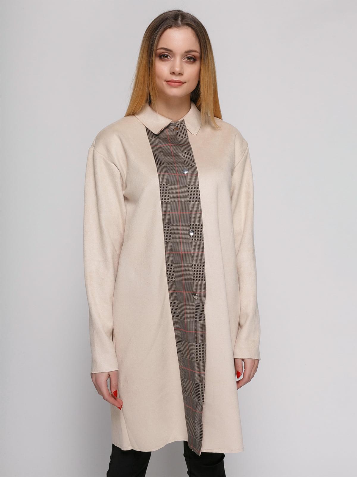 Пальто цвета пудры | 4876844