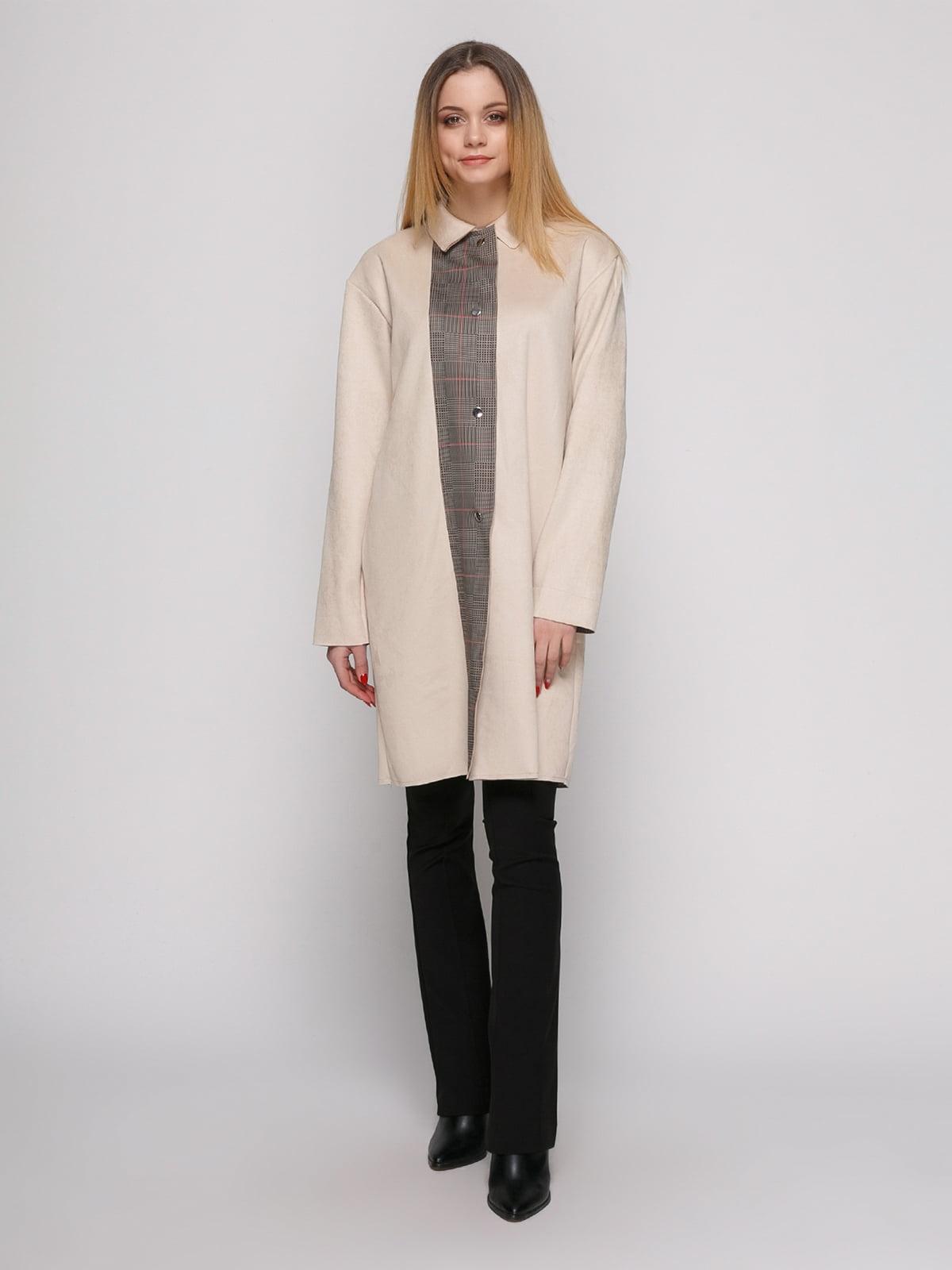 Пальто цвета пудры | 4876844 | фото 2