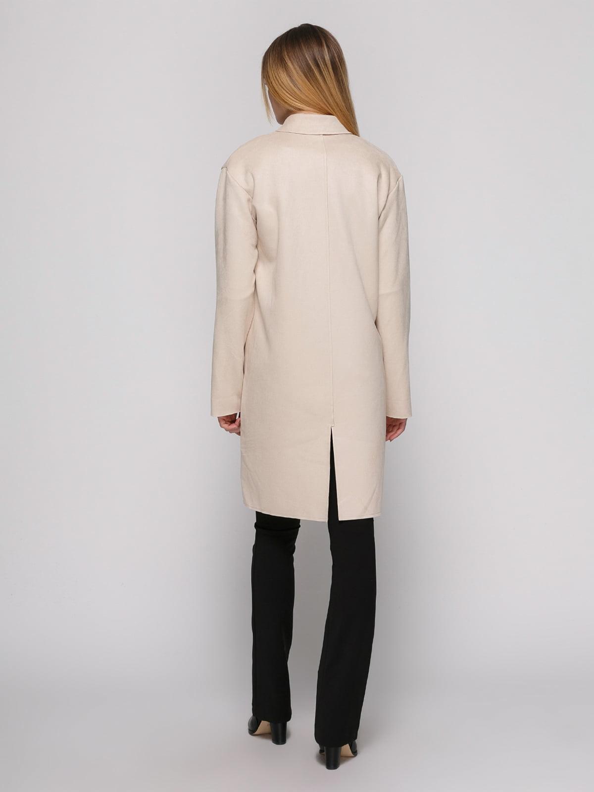 Пальто цвета пудры | 4876844 | фото 3