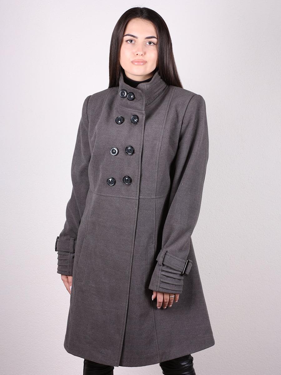 Пальто серое | 4903728 | фото 4