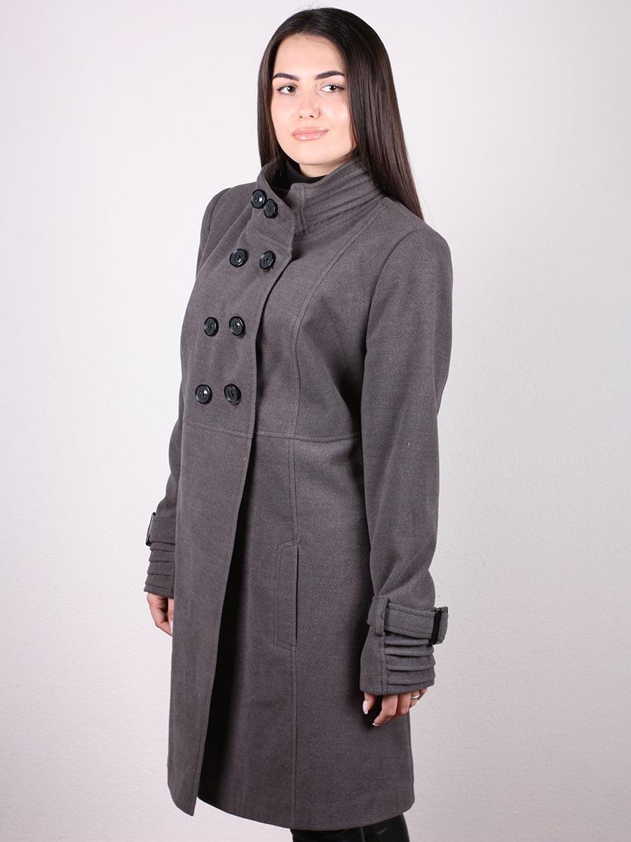 Пальто серое | 4903728 | фото 5