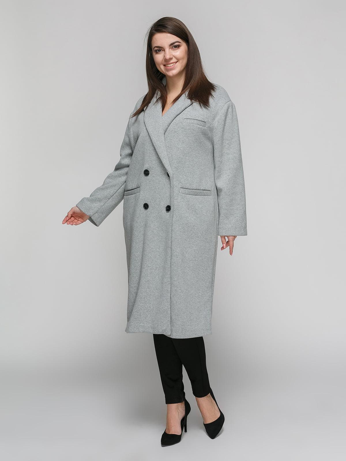 Пальто серое | 4875840 | фото 2