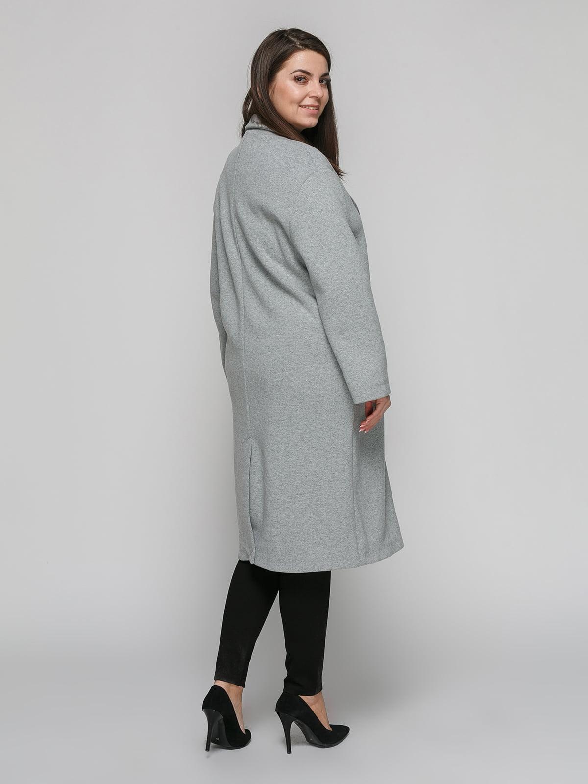 Пальто серое | 4875840 | фото 3