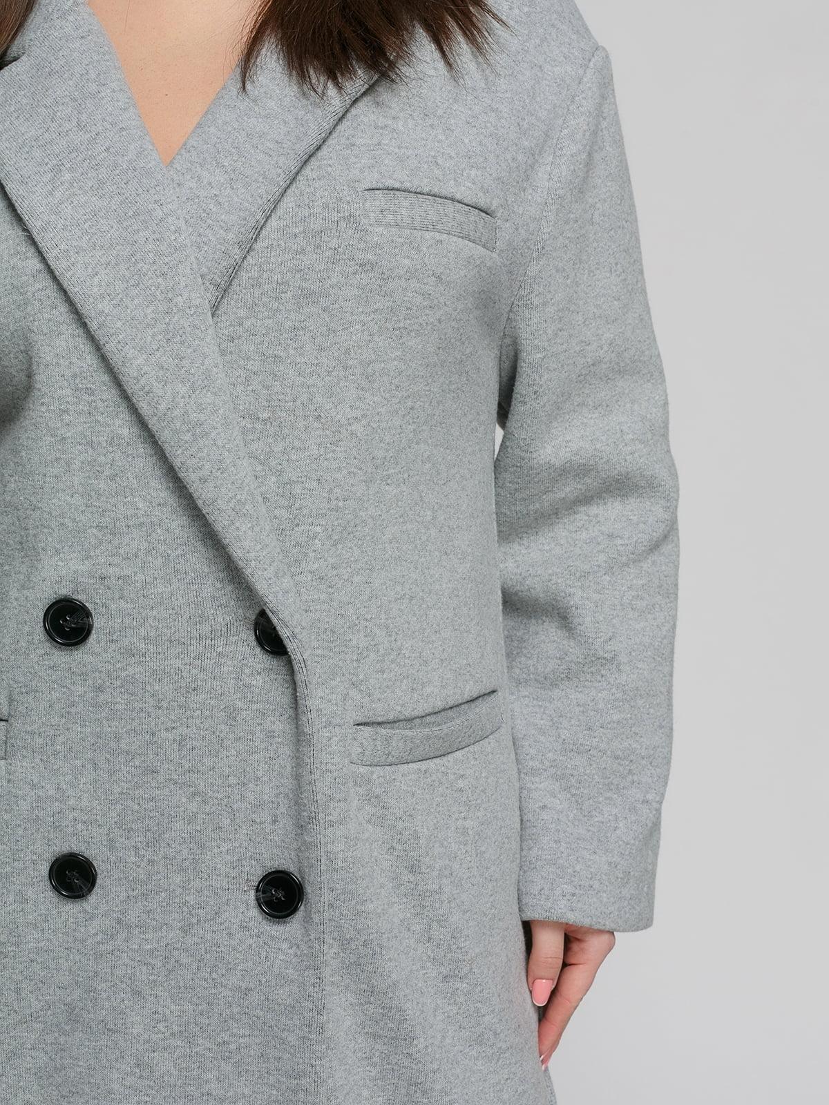 Пальто серое | 4875840 | фото 4