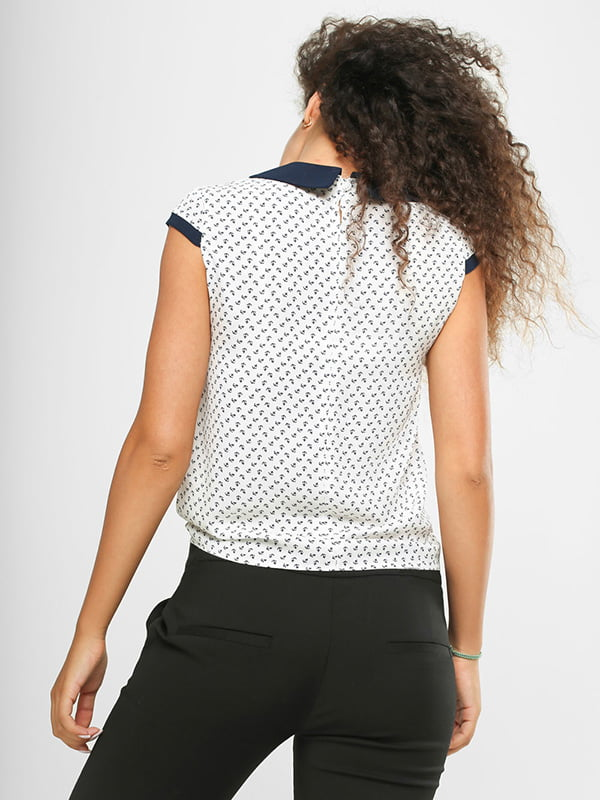 Блуза белая в принт | 4907566 | фото 3