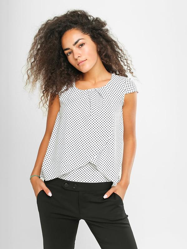 Блуза белая в принт | 4907575 | фото 2