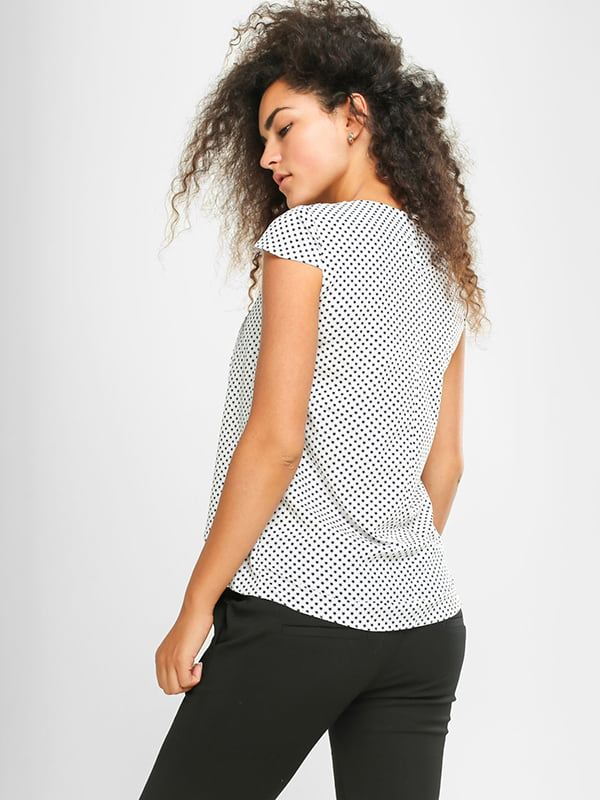 Блуза белая в принт | 4907575 | фото 3