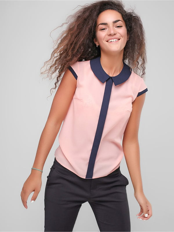 Блуза персикового кольору | 4907591