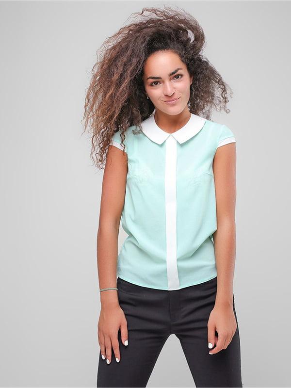 Блуза м'ятного кольору | 4907601
