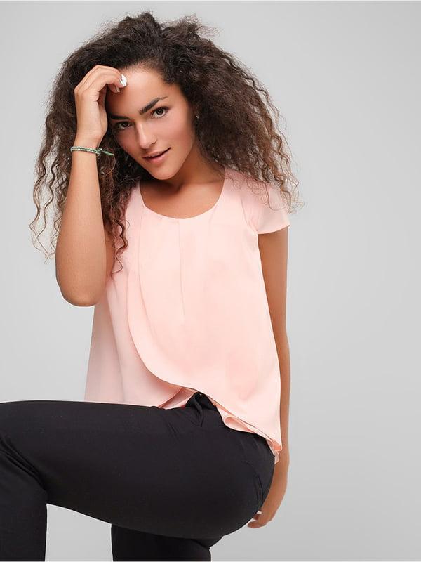 Блуза персикового цвета | 4907602 | фото 2