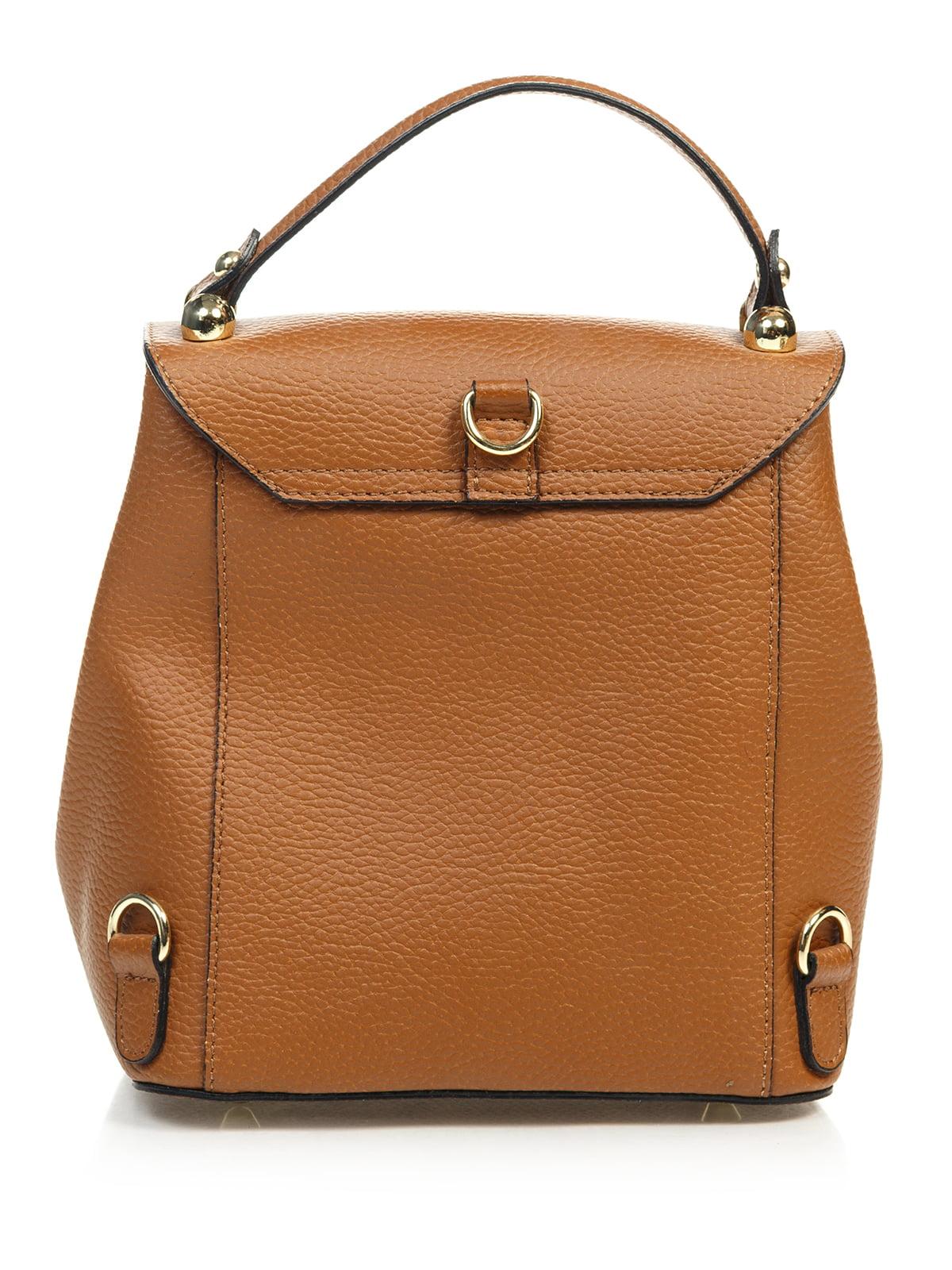 Сумка-рюкзак коньячного кольору | 4901299 | фото 2