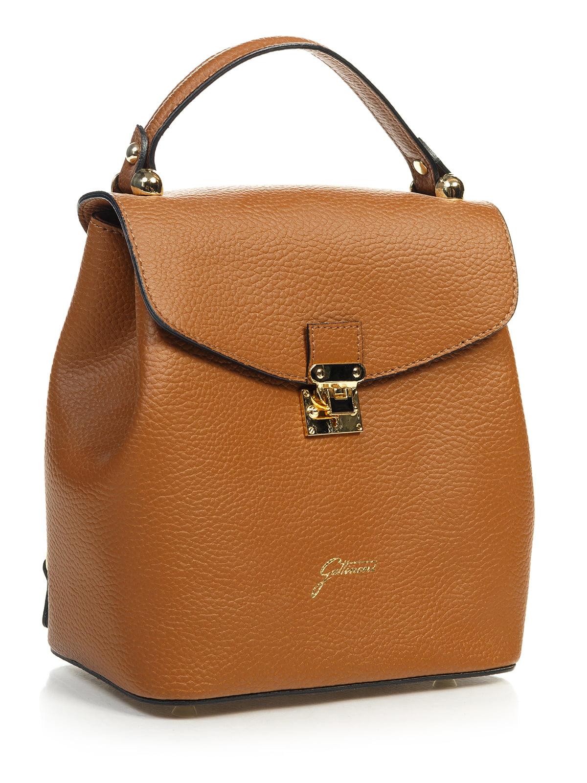 Сумка-рюкзак коньячного кольору | 4901299 | фото 3