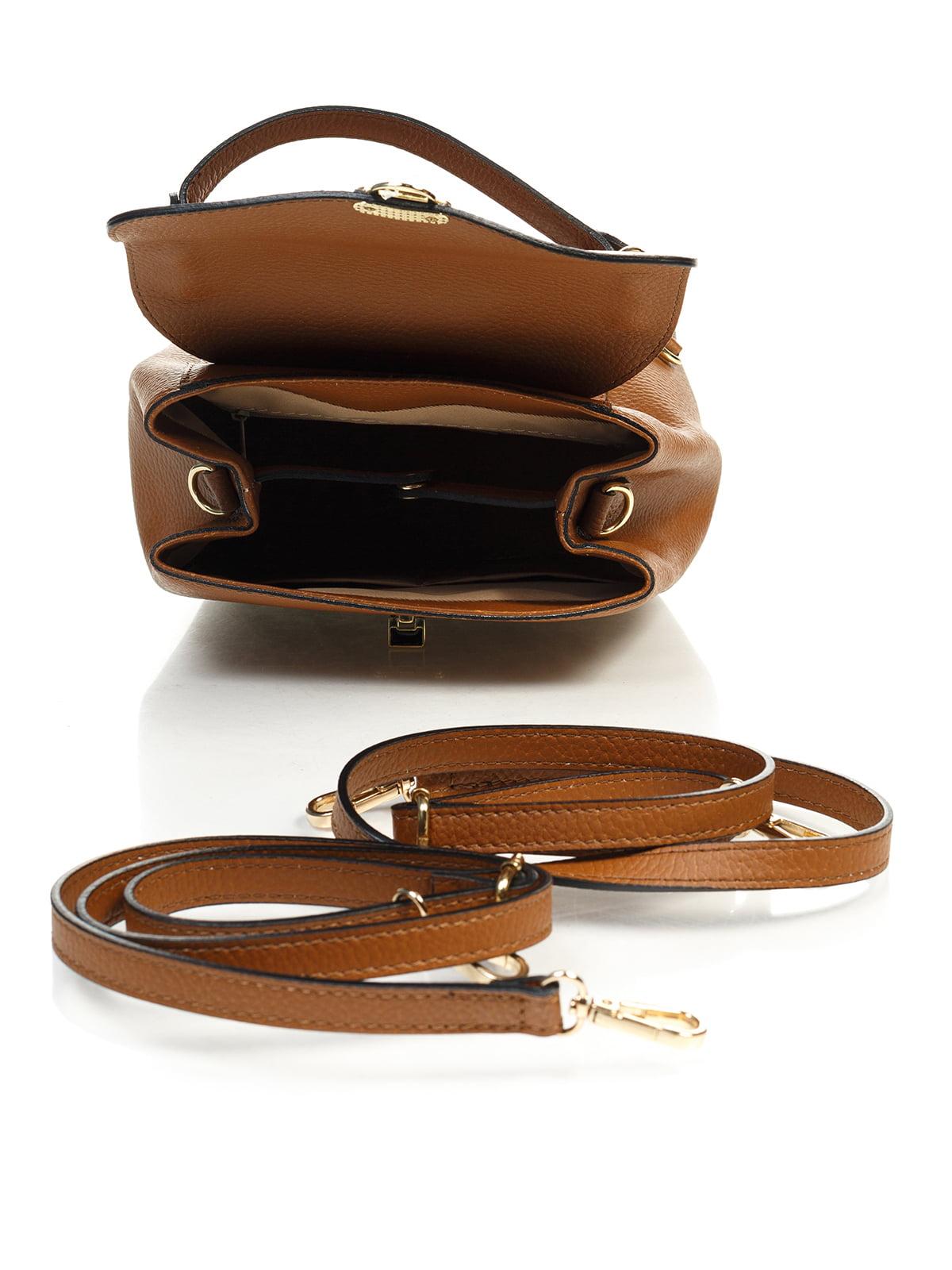 Сумка-рюкзак коньячного кольору | 4901299 | фото 4