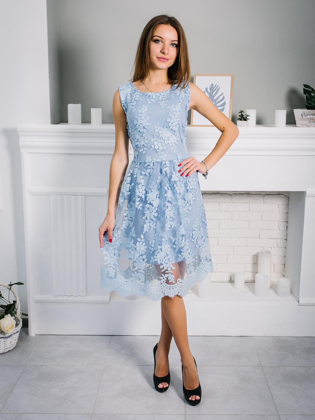 Платье голубое | 4907877