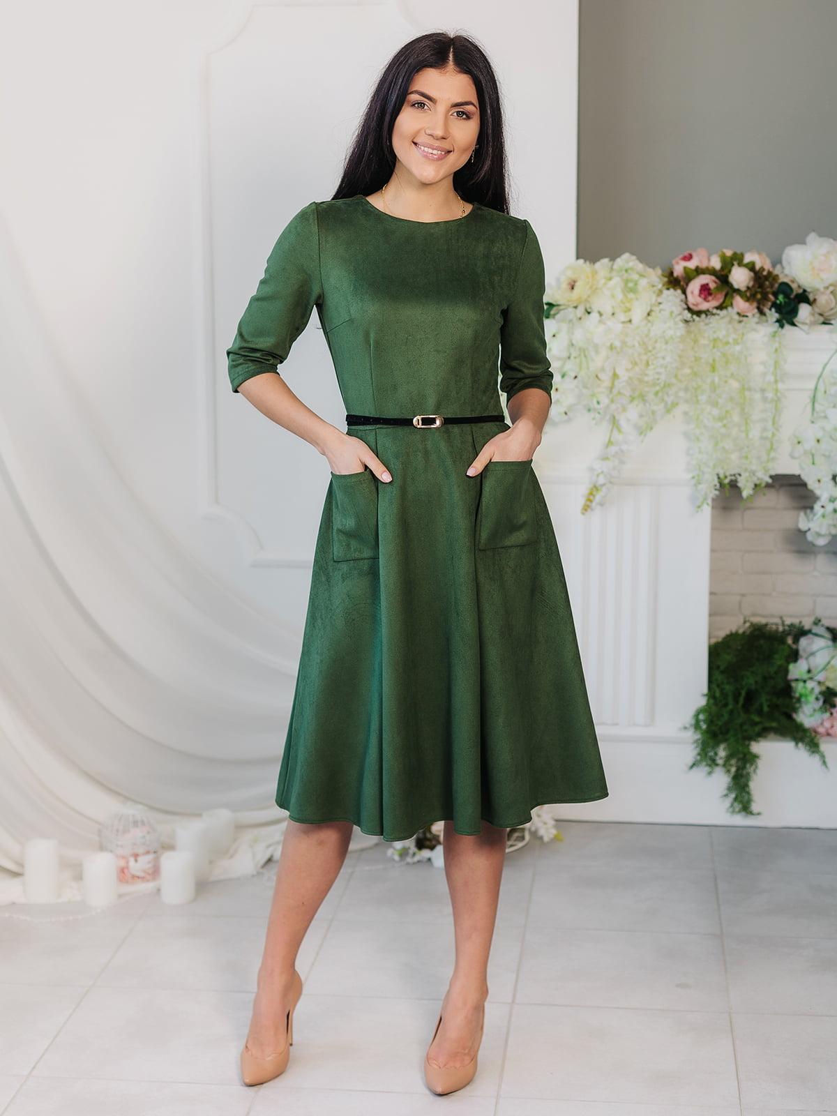 Платье цвета хаки | 4907878