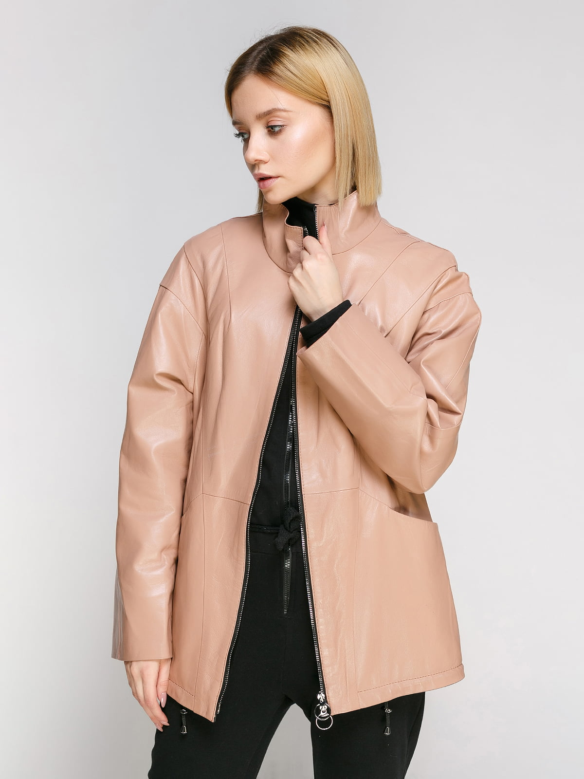 Куртка кольору пудри   4906714