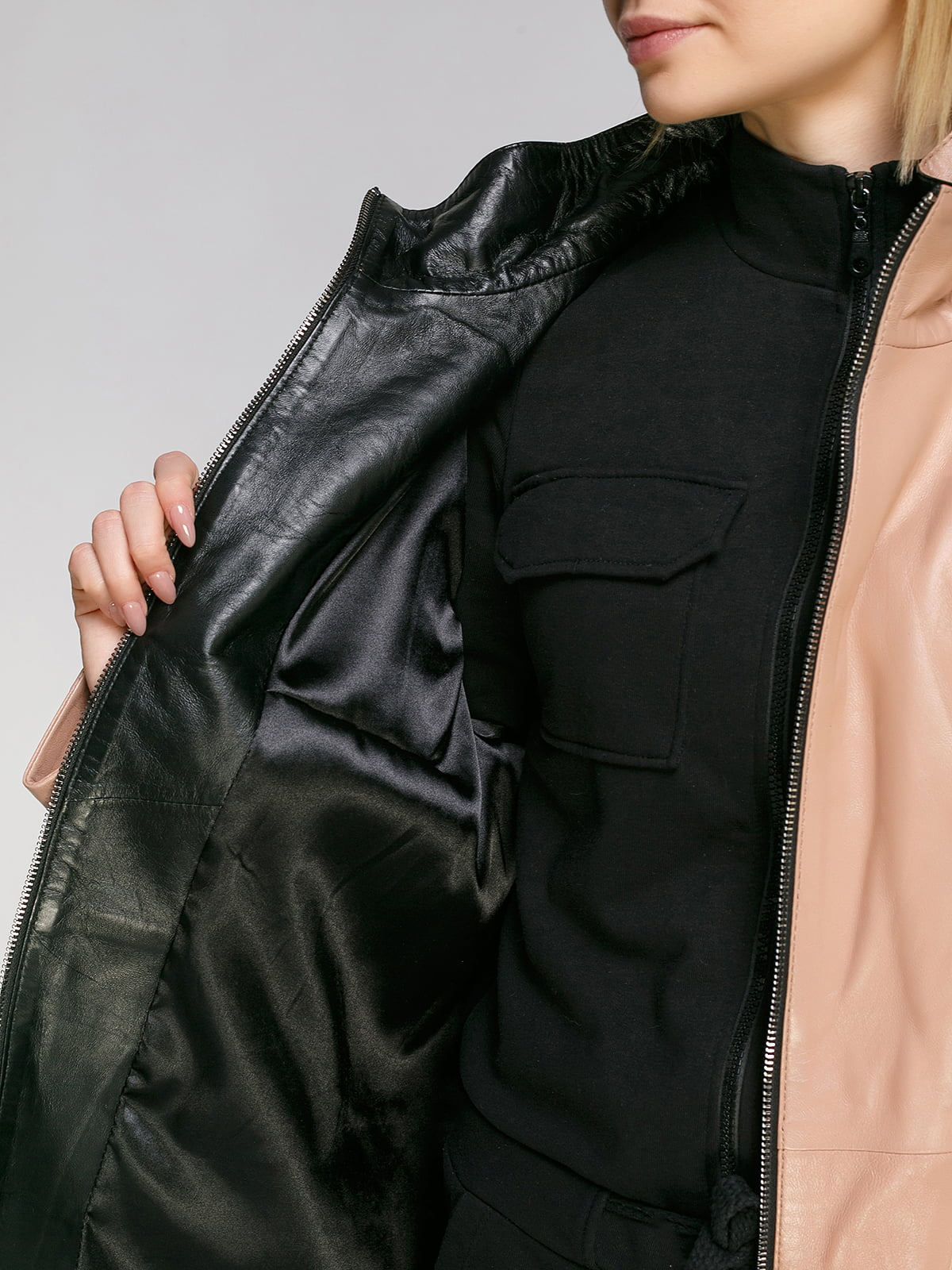 Куртка кольору пудри   4906714   фото 4