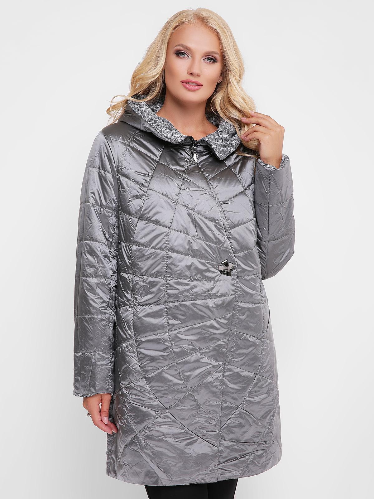 Куртка сріблястого кольору | 4908244