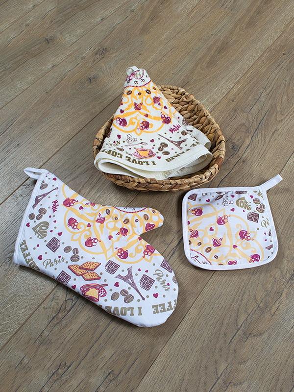 Набор кухонный: рукавица, прихватка и полотенце (50х50 см) | 4909259