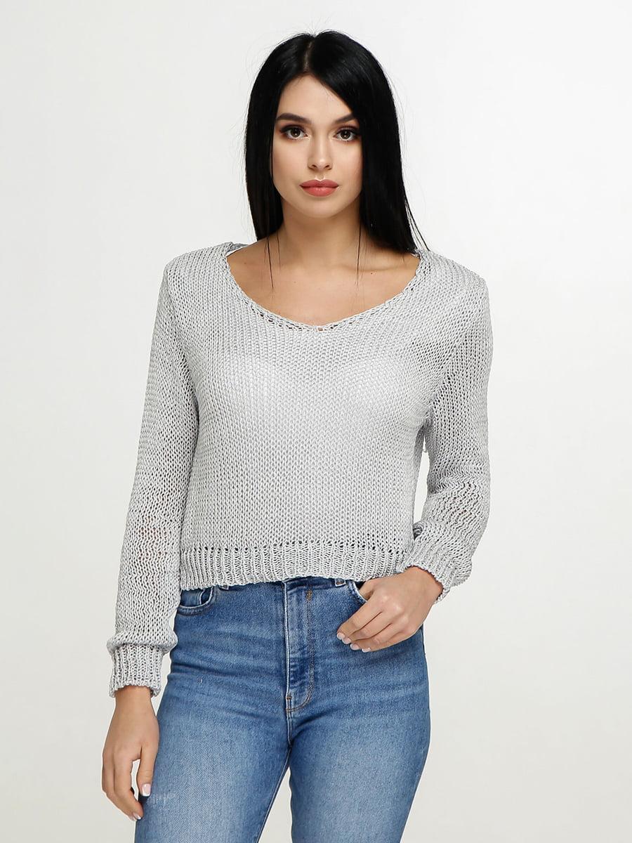 Пуловер сірий | 4911399