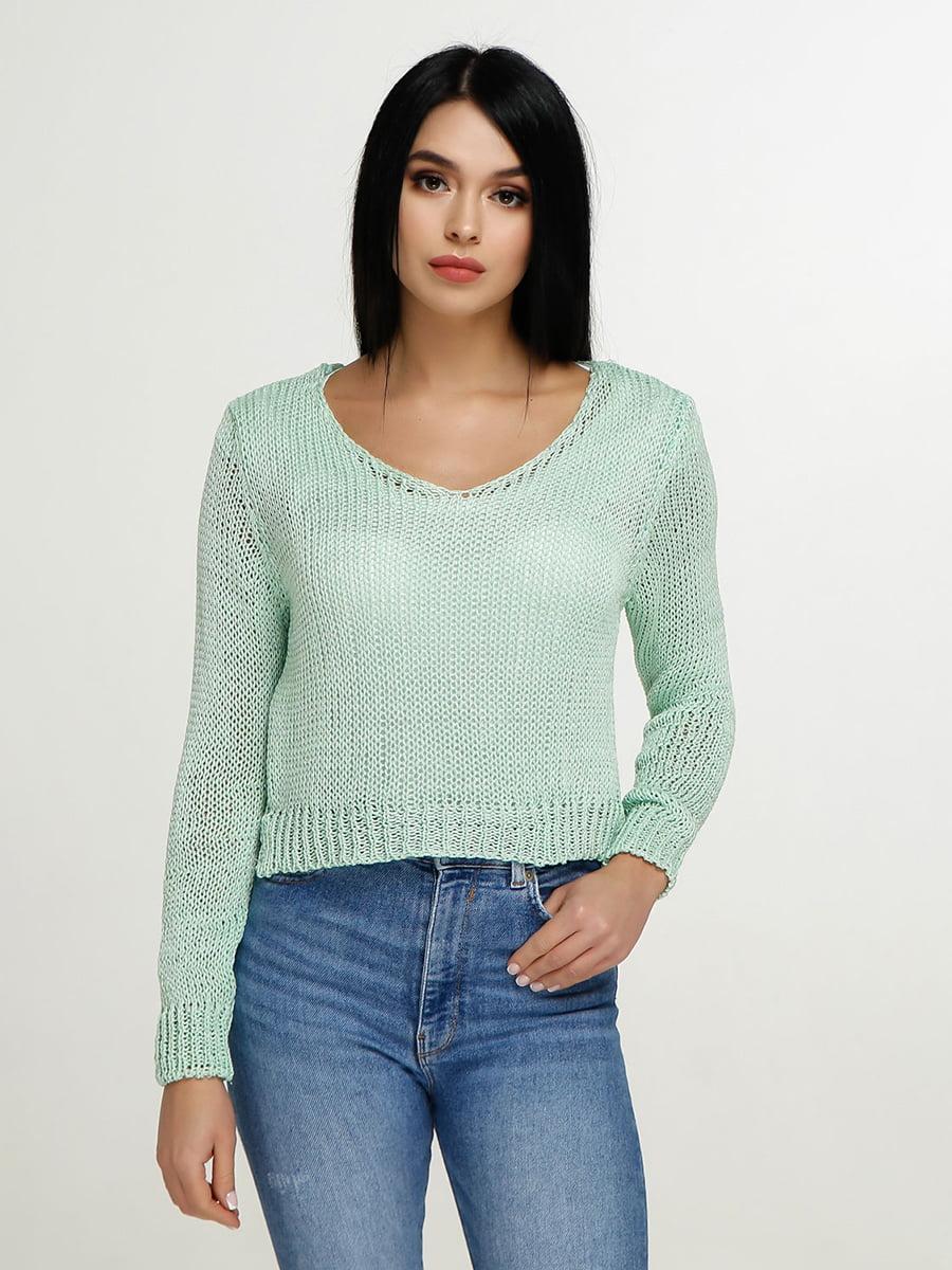 Пуловер зеленый | 4911400