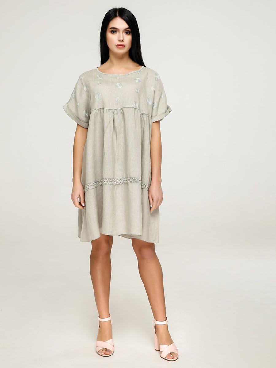 Сукня кольору хакі | 4911416