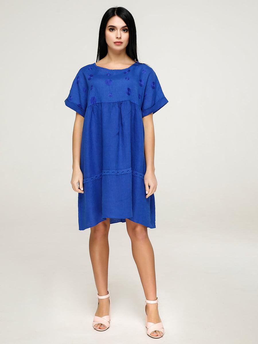 Сукня кольору електрик | 4911417