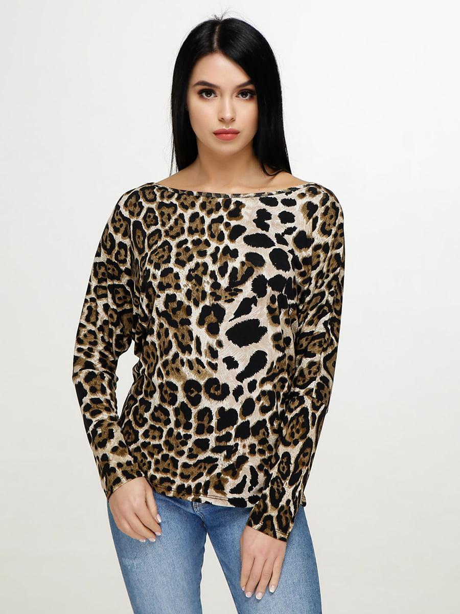 Блуза анималистичной расцветки   4911421