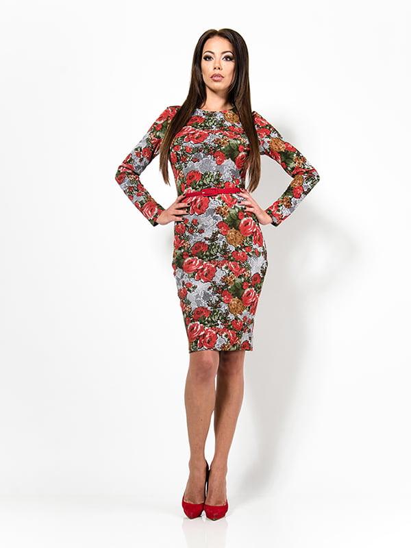 Платье в цветочный принт | 4910798
