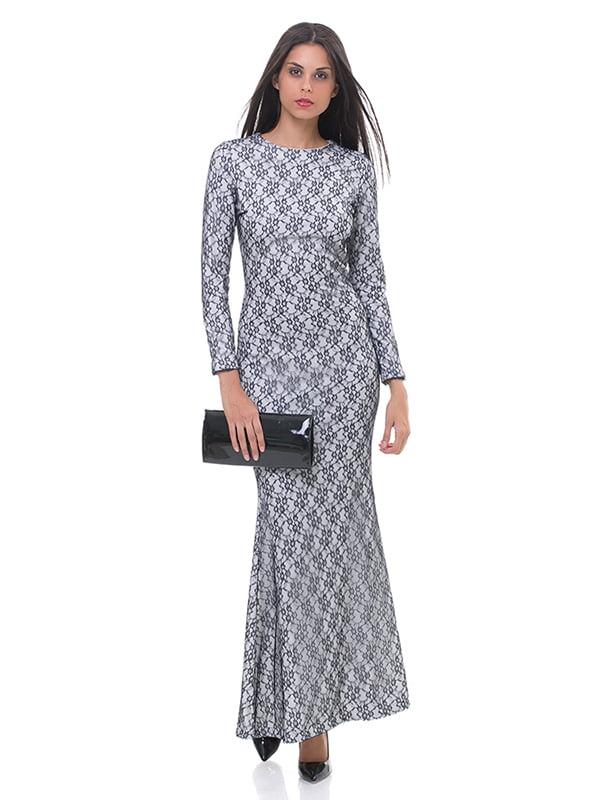Сукня двоколірна в малюнок   4911011