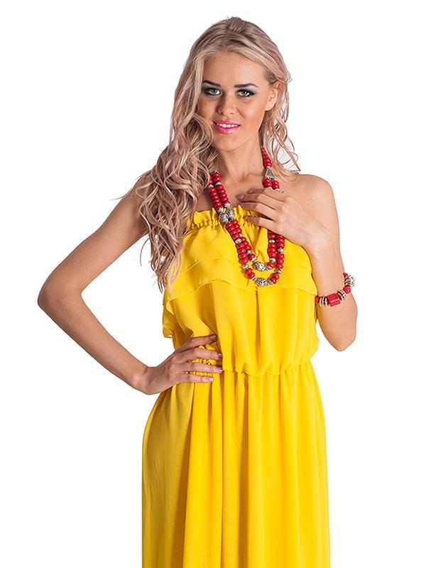 Платье желтое | 4910690