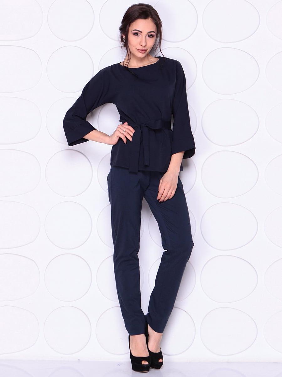 Блуза темно-синя | 4911470