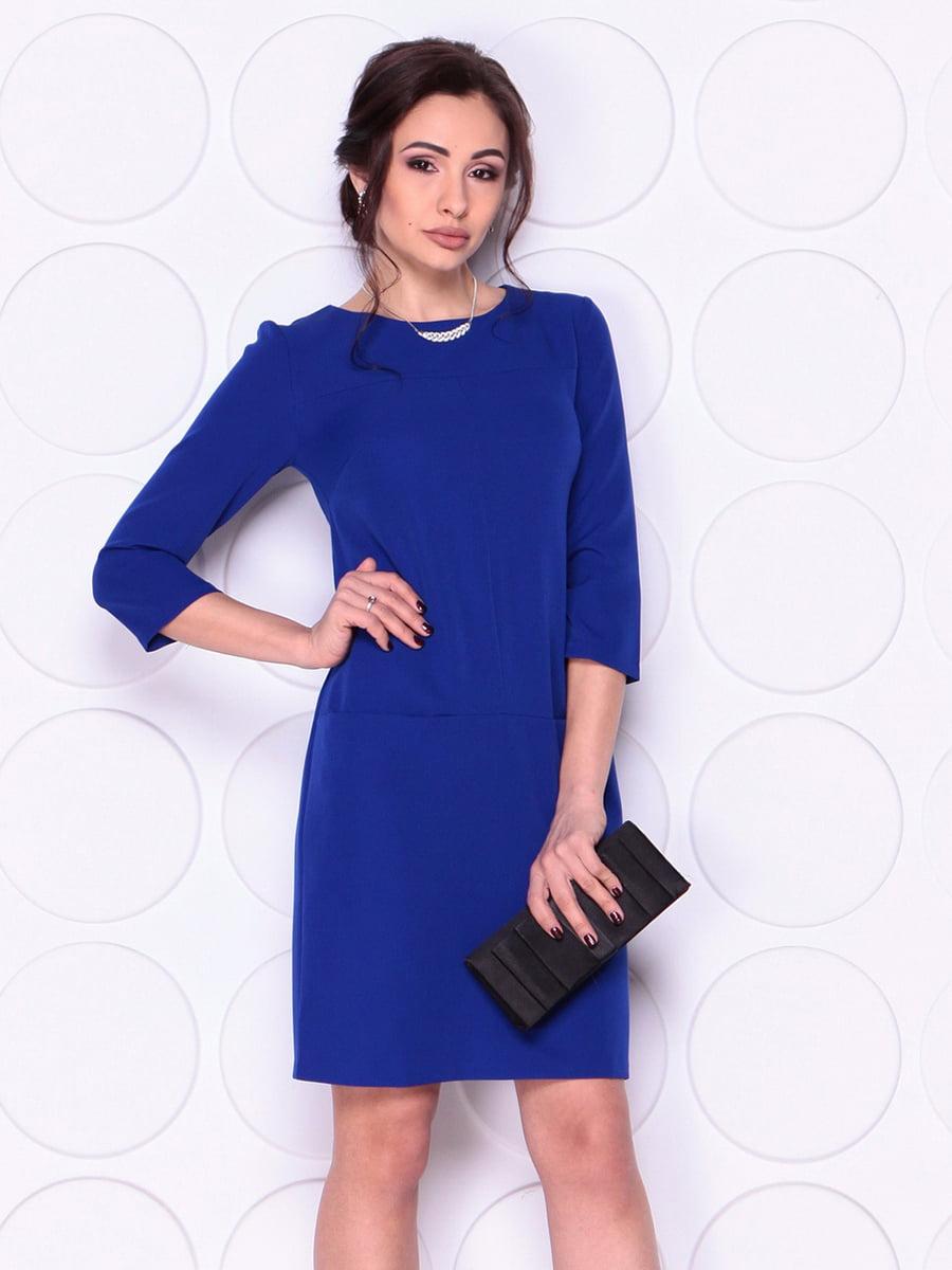 Сукня кольору електрик | 4911475