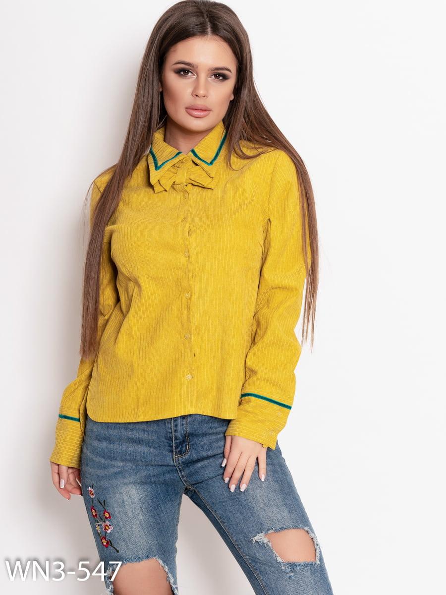 Рубашка горчичного цвета | 4903827