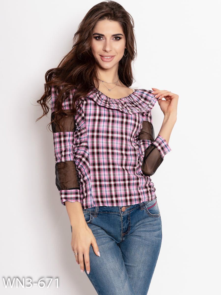 Блуза в клітинку | 4903897