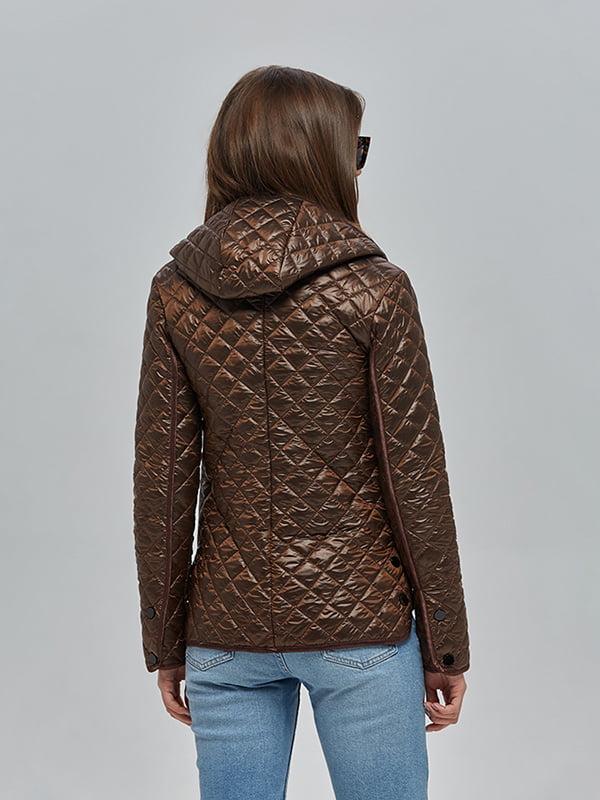 Куртка шоколадного цвета | 4912880 | фото 3