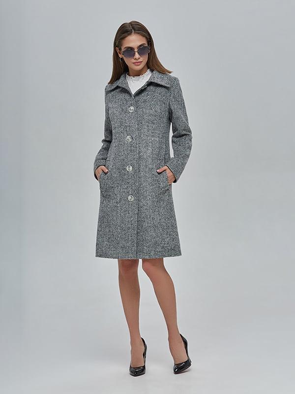 Пальто сіре | 4912886 | фото 2