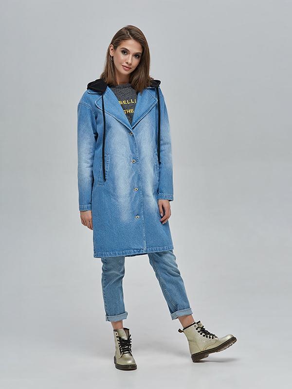Плащ джинсовий синій | 4912897 | фото 2