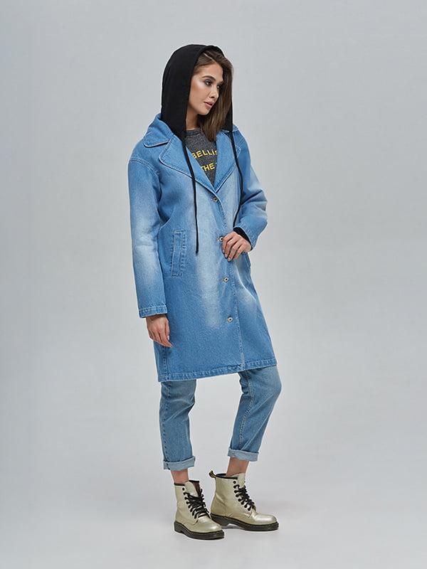 Плащ джинсовий синій | 4912897 | фото 3