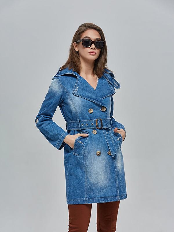 Плащ джинсовий синій | 4912899 | фото 2