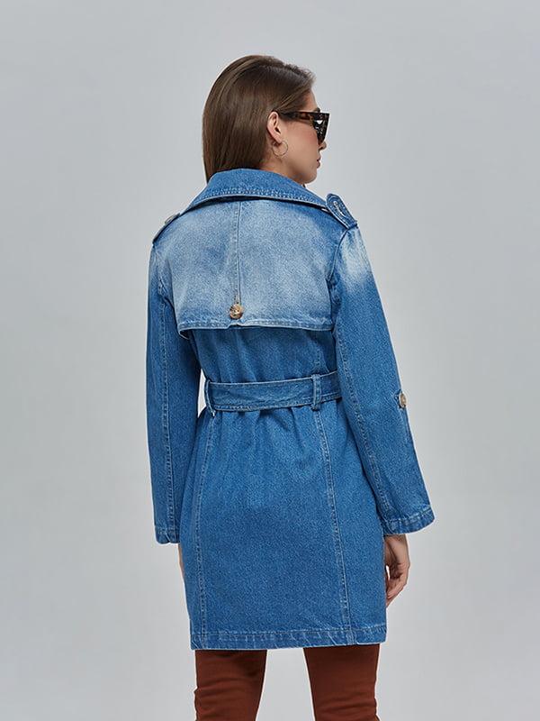 Плащ джинсовий синій | 4912899 | фото 3