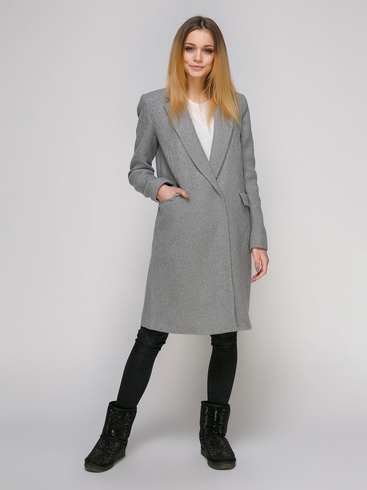 Пальто сіре | 4876002 | фото 2
