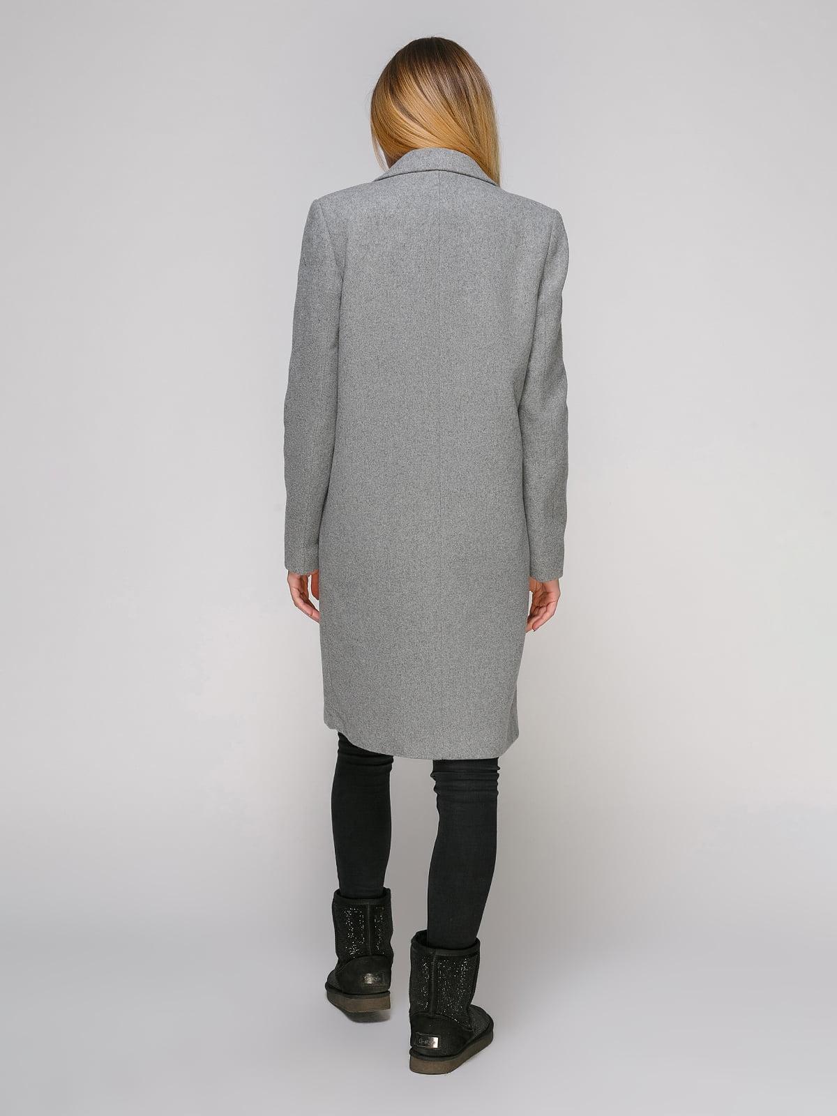 Пальто сіре | 4876002 | фото 3