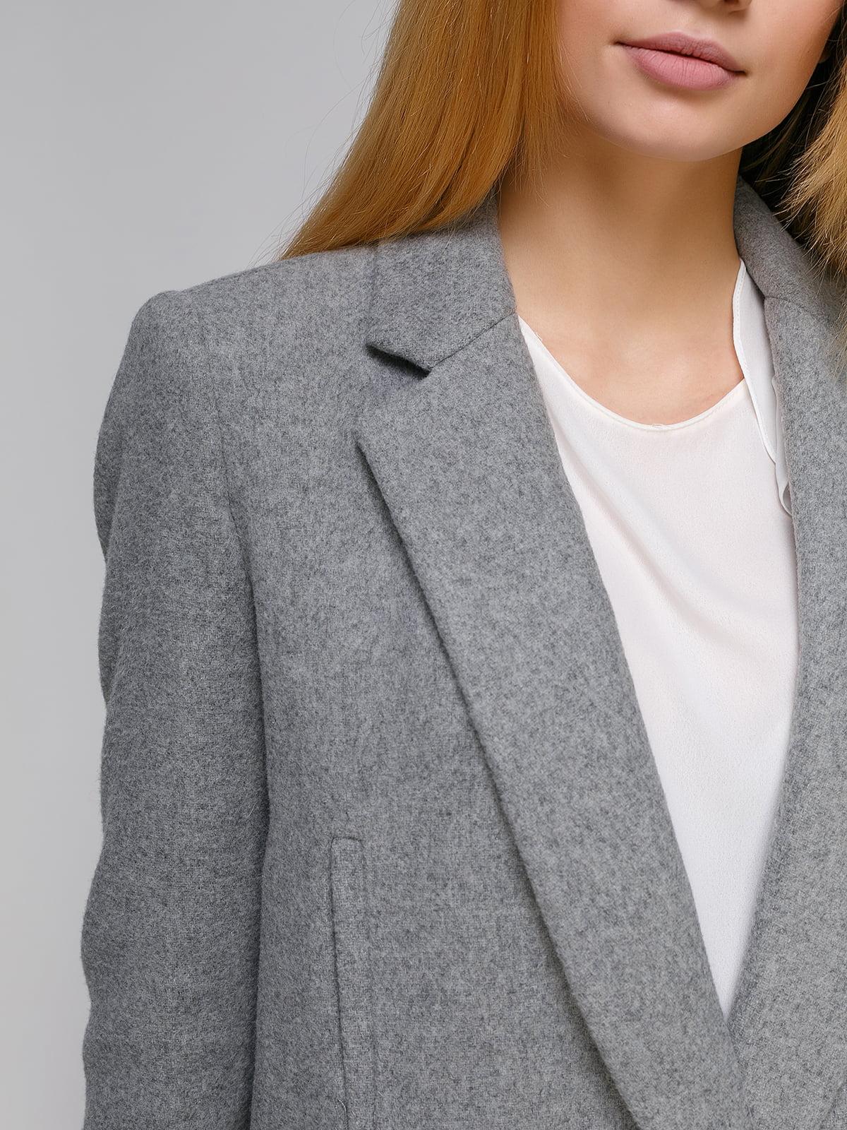Пальто сіре | 4876002 | фото 4