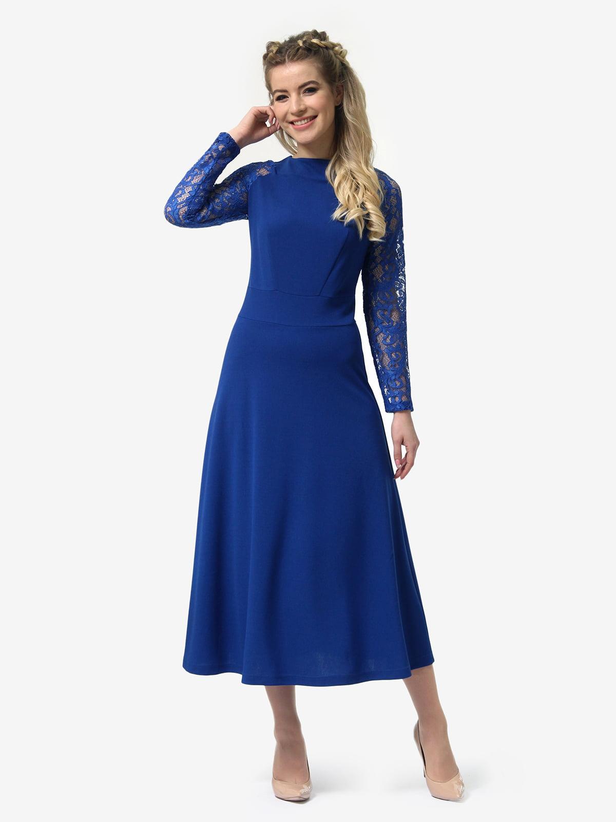 Платье цвета электрик | 4913321