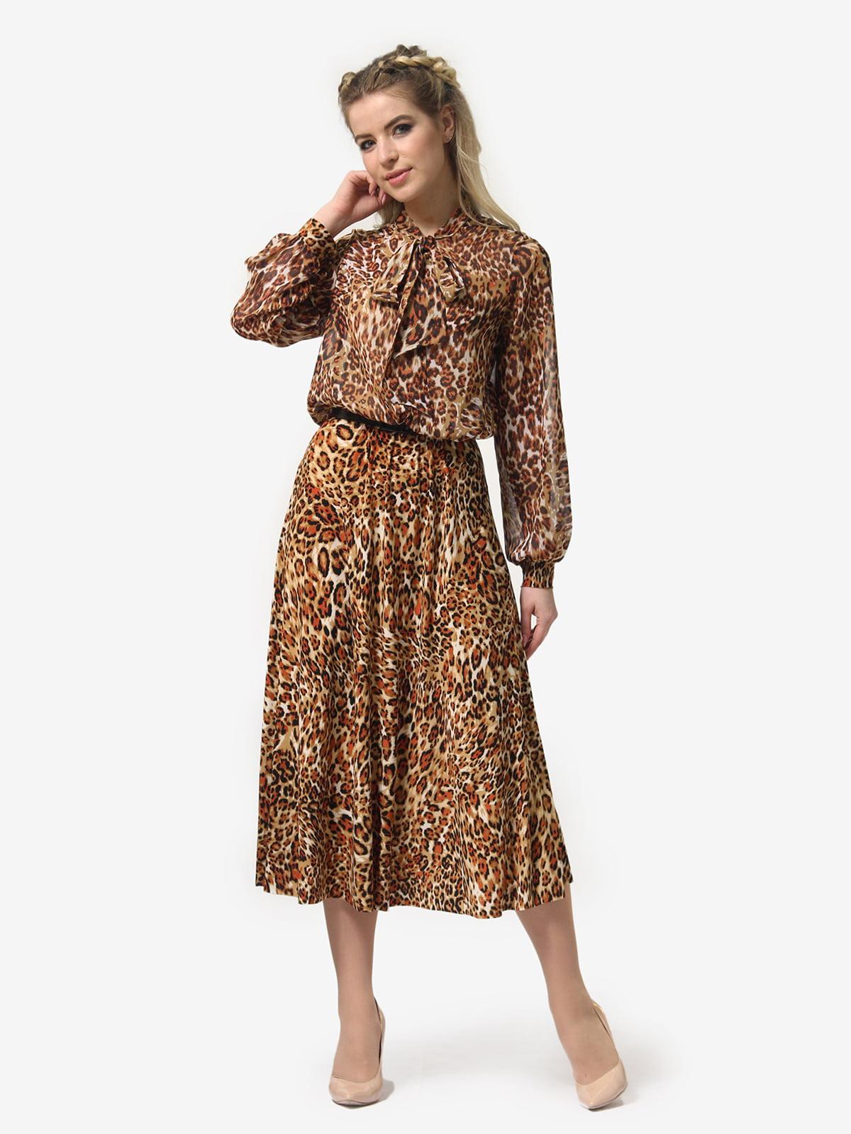 Платье в леопардовый принт | 4913326