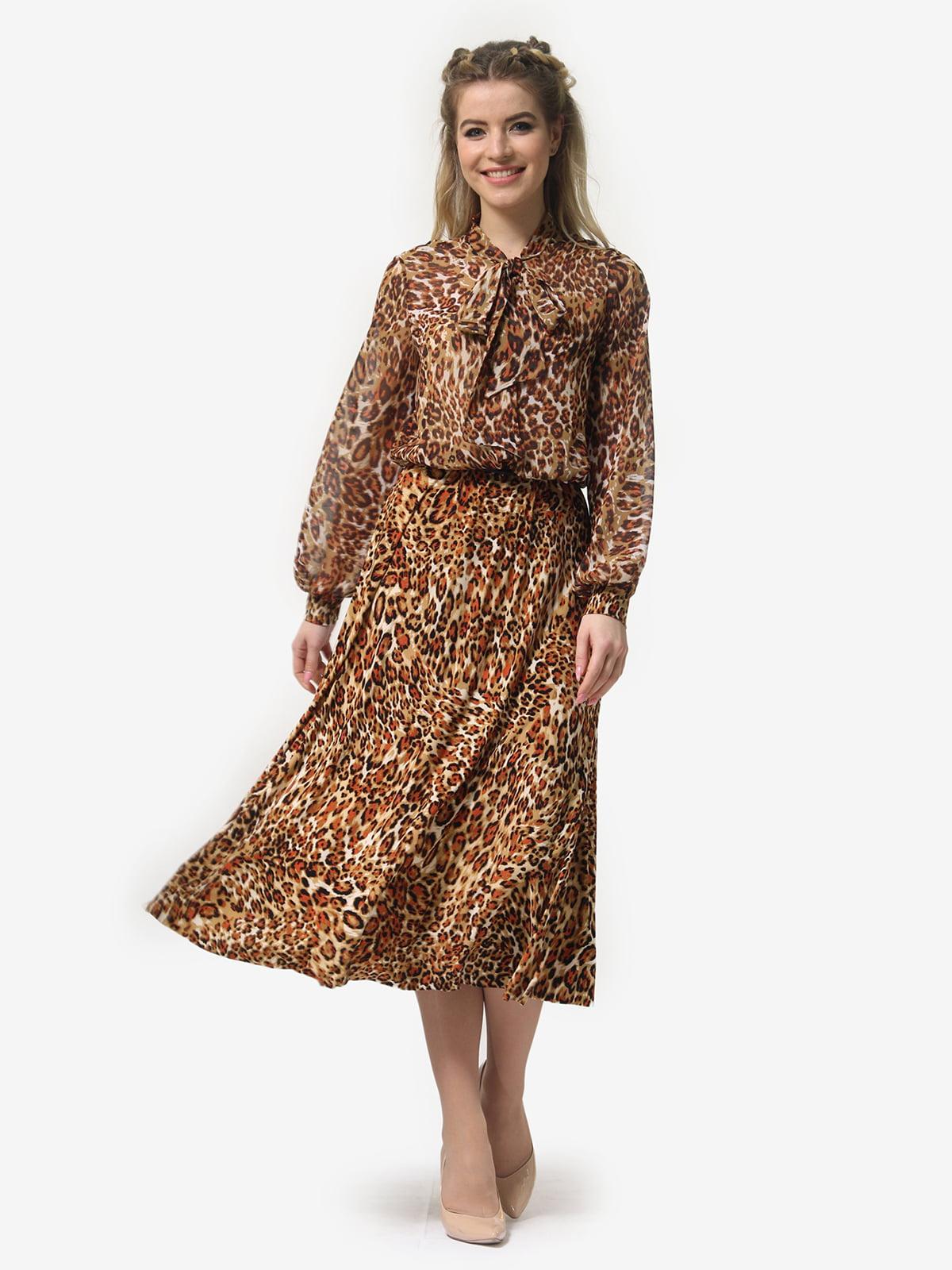 Платье в леопардовый принт | 4913326 | фото 2